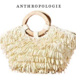 NWT Anthropologie Rosalita Fringed Tote Bag